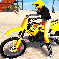 beach bike stunt racing