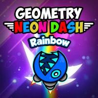 Geometry Neon Dash Rainbow