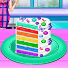 rainbow cake cooking