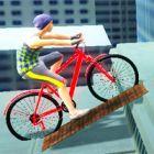 roof bike stunt
