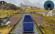 18 Wheeler Impossible Stunt: Approaching Finish Line Truck Landscape