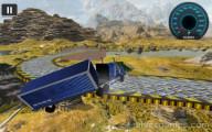 18 Wheeler Impossible Stunt: Falling Off Bridge Blue Truck
