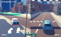 3D Город: Гонка 2 Игрока: Driving