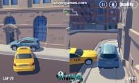 3D Город: Гонка 2 Игрока: Split Screen