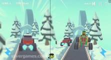 3D Monster Trucks: IcyRoads: 2 Player Gameplay