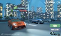 3D Night City: 2 Player Racing: Menu