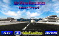 Airplane Simulator Island Travel: Menu