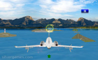 Airplane Simulator Island Travel: Airplane Flying Through Loops