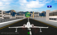 Airplane Simulator Island Travel: Taking Off Plane