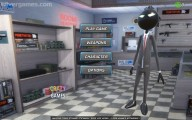 Amazing Crime Strange Stickman: Menu