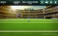American Football Challenge: Field Soccer Catching