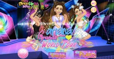 Ariana Grande Dress Up: Menu