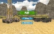 Army Cargo Driver: Menu