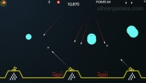 Atari Missile Command: Gameplay Shooting Bombs