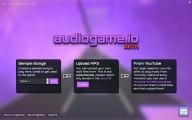 Audiogame.io: Menu
