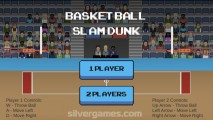 Basketball Slam Dunk: Menu