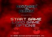 Batman And Robin: Menu