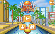 Beach Bowling 3D: Menu