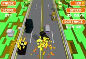 Blocky Roads: Car Accident Blocky Street