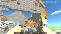 Build & Crush: Throwing Fire Destruction House