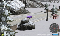 Burnout Extreme Drift: Car Drifting Snow