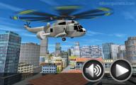 City Helicopter Flight: Menu