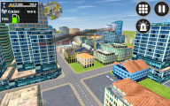 City Helicopter Flight: Gameplay Flying Over City