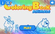 Coloring Book: Animals: Menu