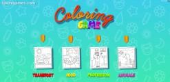 Juego De Colorear Para Niños: Menu