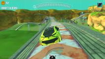 Concept Car Stunt: Gameplay Yellow Car