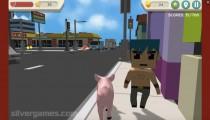 Simulador De Cerdo Desquiciado: City Pig Walking