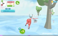 Deer Simulator Christmas: Gameplay Deer Fighting Wolf