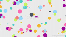 Dot Game: Menu Many Colorful Bubbles