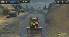 Extreme Offroad Cars 3: Cargo: Driving Over Bridge Rain