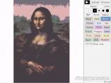 Falling Sand: Mona Lisa