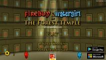 Fireboy And Watergirl: Menu
