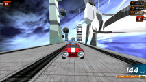 Fly Car Stunt 5: Car Speeding Futuristic Surroundings