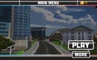 Flying Police Car Simulator: A Menu