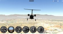 GeoFS Flight Simulator: Flying