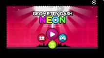 Geometry Dash Neon: Menu