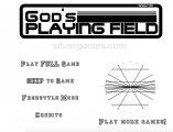 God's Playing Field: Menu