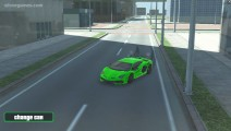Grand City Driving: Green Sport Car Racing