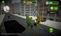Incredible Monster: Gameplay Fighting Green Hulks