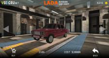 Lada Russian Car Drift: Menu