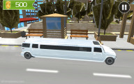 Limo Taxi Driver: White Limousine