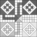 Ludo: Printable Black White