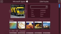 Microsoft Jigsaw: Menu