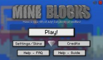 Mine Blocks: Start Screen