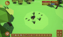 Mini Survival: Gameplay Collecting Grass