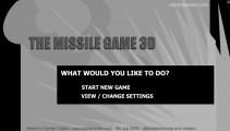 Missile Game: Menu